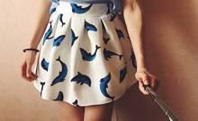 Юбка с дельфинами