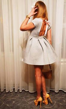 c6ee13c0118 Шикарное платье с открытой спиной и офигенной пышной юбкой серого цвета из  магазина gagaopt23 Это мой самый любимый магазин на Али! Этот магазин меня  всегда ...