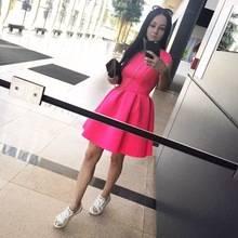 0a5b55aa173 Милое розовое платье с открытой спиной. Сегодня на улице было +25 и в платье  было откровенно жарко
