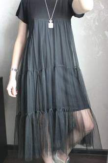 Платье из футболки и фатина